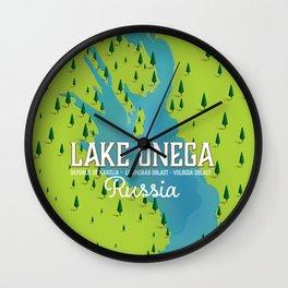 Lake Onega, russia Wall Clock