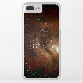 The Lagoon Nebula Through my 8-inch Telescope Clear iPhone Case