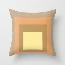 Block Colors - Soft Earthy Tones Throw Pillow