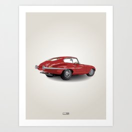 Jaguar E-Type Series 1 (1961-1968) Art Print