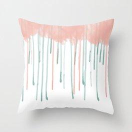 Watercolour rain Throw Pillow