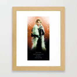iN THE LAND OF gODS AND mONSTERS Framed Art Print