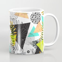 Triangles and plants Coffee Mug
