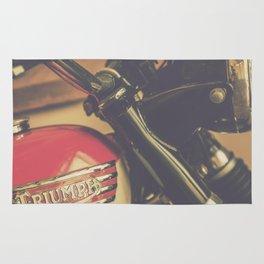 Vintage Triumph Bonneville Motorcycle Rug