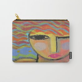 Abstract Portrait of a Woman Carry-All Pouch