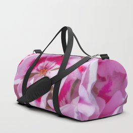 Red And White Flora Duffle Bag