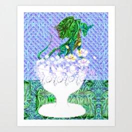 Tropical Dragon Garden  Art Print
