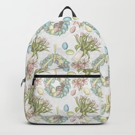 Easter Floral Pattern Backpack