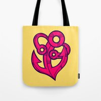 anchor Tote Bags featuring Anchor by Artistic Dyslexia