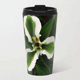 Green-striped White Trillium  (Disease can be beautiful) Travel Mug