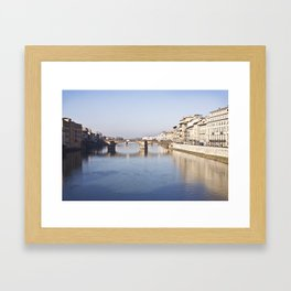 The Arno, from Ponte Vecchio - Florence, Italy Framed Art Print