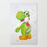 yoshi Canvas Prints featuring Yoshi by Sabina's Arts