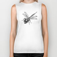 dragonfly Biker Tanks featuring Dragonfly by Vilnis Klints