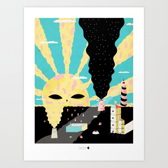 Mundo tóxico Art Print