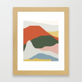 Mountains of Colors Framed Art Print