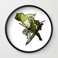 zelda Wall Clocks featuring ZELDA by Loris Ori