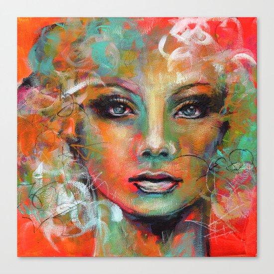 Little Colorgirl... Canvas Print