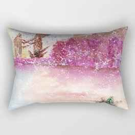 A New World Watercolor Art Illustration Rectangular Pillow