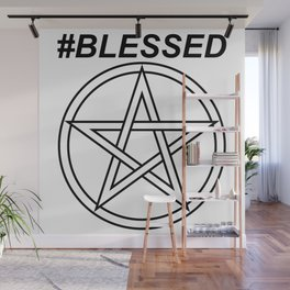 #BLESSED INVERSE Wall Mural