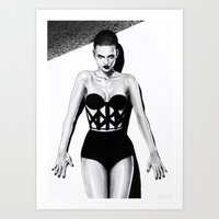 vogue Art Prints featuring Vogue  by Tania Santos