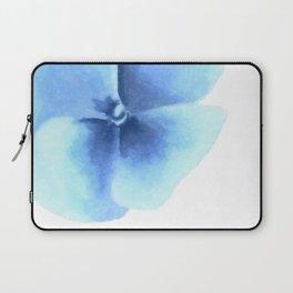 Minimalist flower, Blue pansy Laptop Sleeve