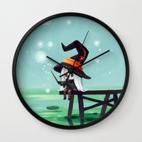 bubbles Wall Clocks featuring Bubbles by Freeminds