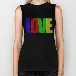 Love (Color) Biker Tank