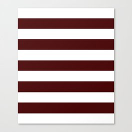 Bulgarian rose - solid color - white stripes pattern Canvas Print