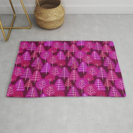 Mulberry Scandi Forest Rug