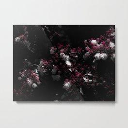 Moonlit Laurel Blossoms Metal Print