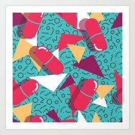 Pills Pattern 014 Art Print
