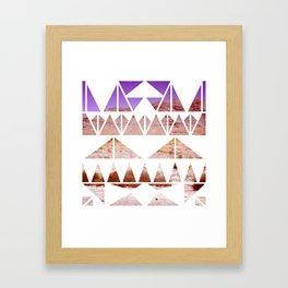 Desert Oasis Geo Framed Art Print