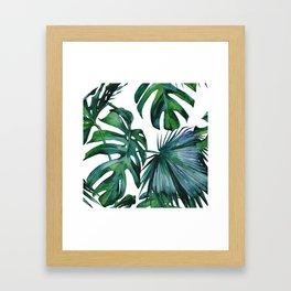 Tropical Palm Leaves Classic Gerahmter Kunstdruck