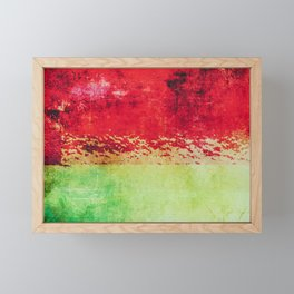Modern Texture Red Abstract Framed Mini Art Print