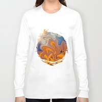 sunset Long Sleeve T-shirts featuring SKY ON FIRE by Catspaws