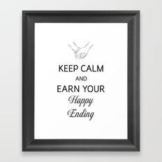 Earn Your Happy Ending [Black] Framed Art Print