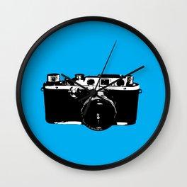 Leica in Blue Wall Clock