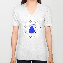 Polka dot & blue pear Unisex V-Neck