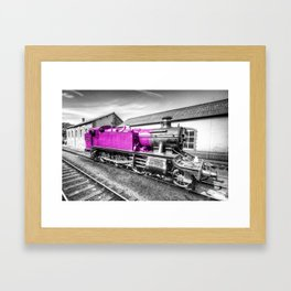 Large Prarie in pink  Framed Art Print