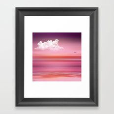 FROM DUSK TO DAWN pink Framed Art Print
