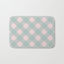 Pink & Mint Checkered Pattern-Mix and Match with Simplicity of Life on #Society6 Bath Mat