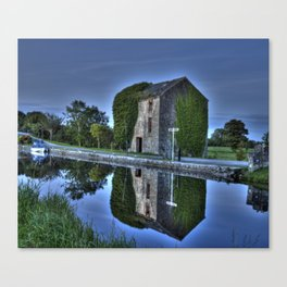 Old Storehouse along the Royal Canal Canvas Print