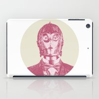 c3po iPad Cases featuring C3PO by NJ-Illustrations
