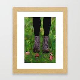 Doc Marten Boots #popart Framed Art Print