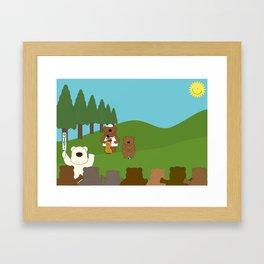 WE♥GOLF Framed Art Print