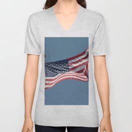 USA Flag Unisex V-Neck