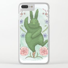 The Balancing Bunny Clear iPhone Case