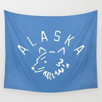 alaska Wall Tapestries featuring Alaska by Roland Lefox