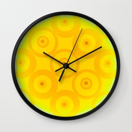 Circle From Yellow To White Wall Clock