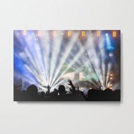 Concert Light Show Metal Print